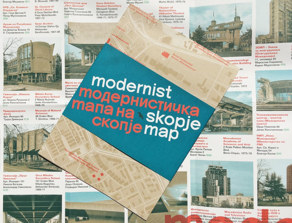 The Modernist Skopje Map. Image: Blue Crow Media