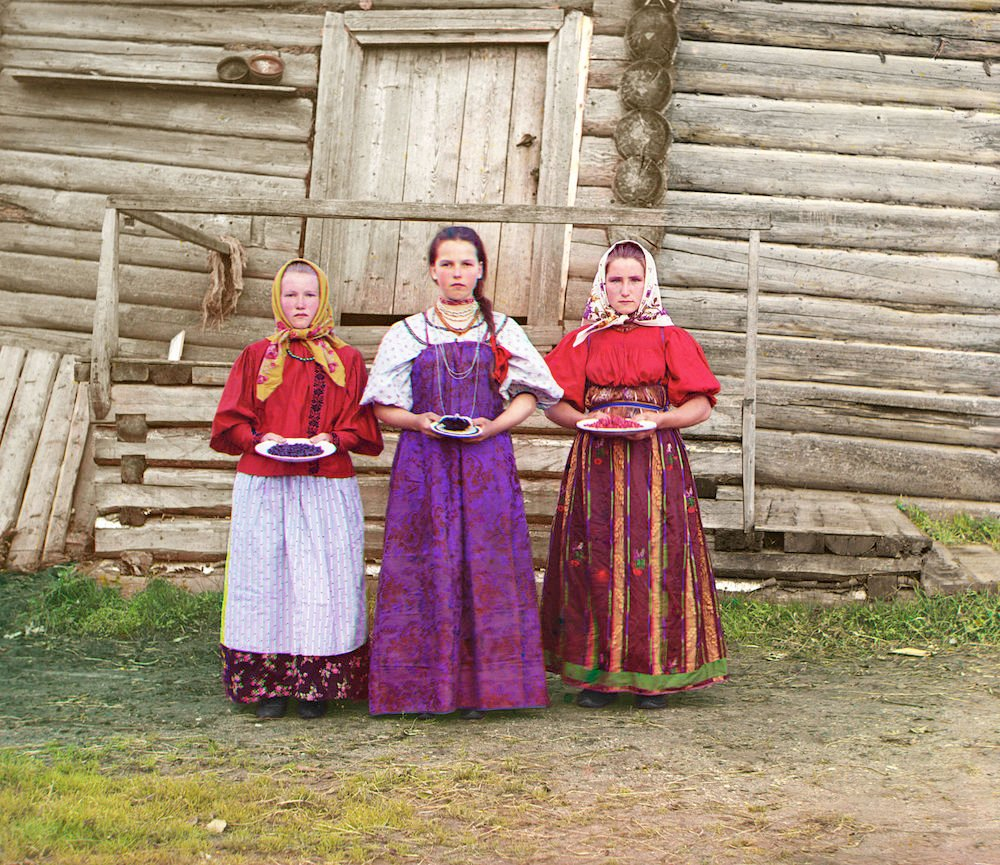 Image: Young Russian peasant women, 1909