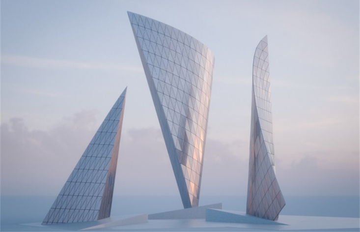 Check out the monument blending Soviet nostalgia with space age aesthetics