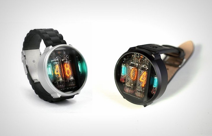 It's time to go retro with these steampunk-style Nixie tube watches