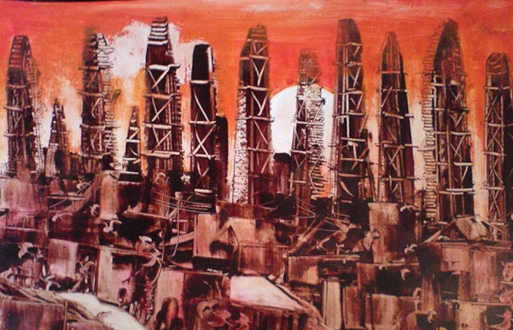 Discover the Azerbaijani painter creating art with crude oil