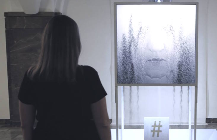 Watch your selfies crumble into dust with Polish art collective PanGenerator