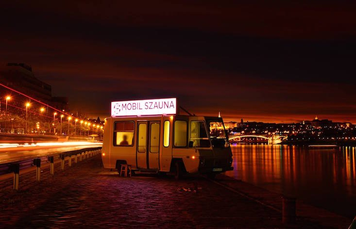 Budapest has created the ultimate sauna, and it's a bus on the banks of the Danube