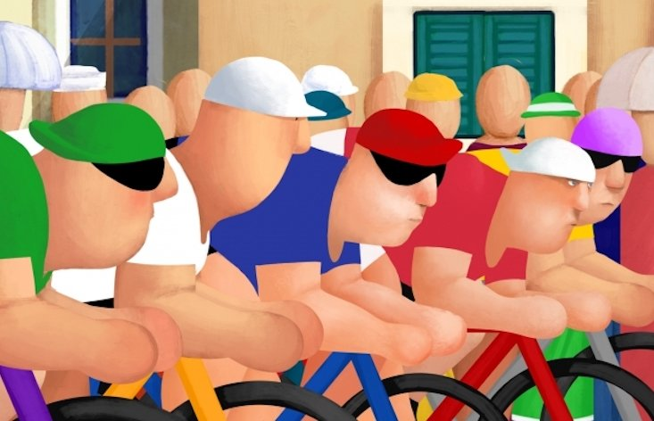 Cyclists: Watch the award-winnng film inspired by Croatian artist Vasko Lipovac