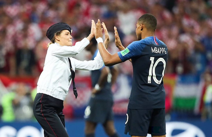 Pussy Riot crashed the World Cup Final with a poetry-inspired pitch invasion