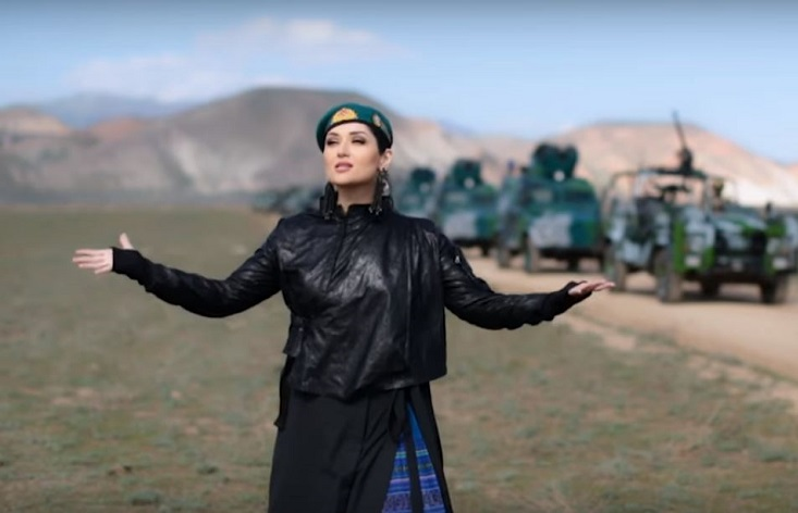 Azerbaijan border police have released a music video