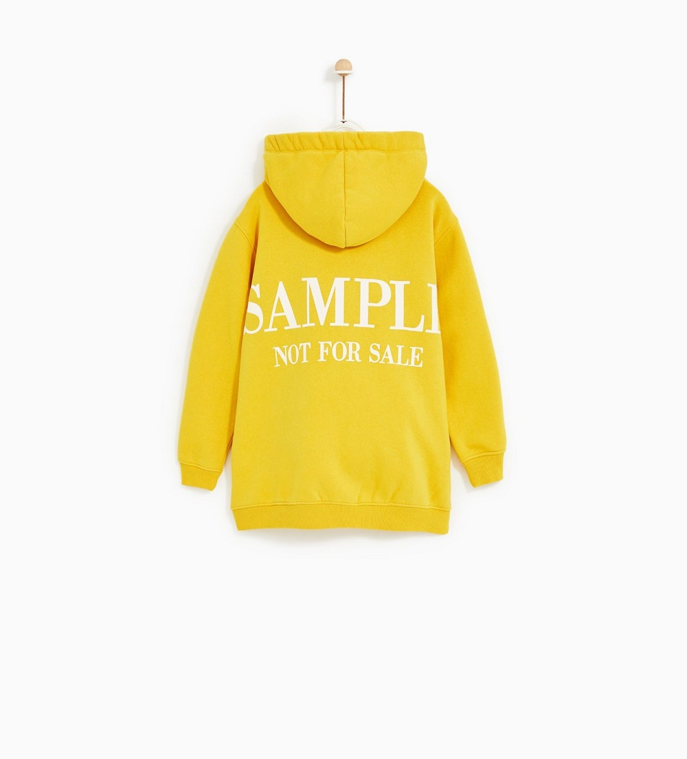 The sweatshirt currently on sale for Zara Kids