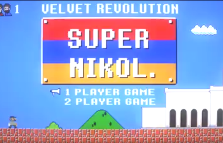 Watch the story of Armenia's velvet revolution (as told by Super Mario)