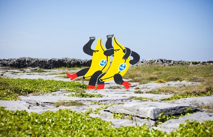 This Lithuanian artist is taking over a tiny Irish island with colourful cartoons sculptures