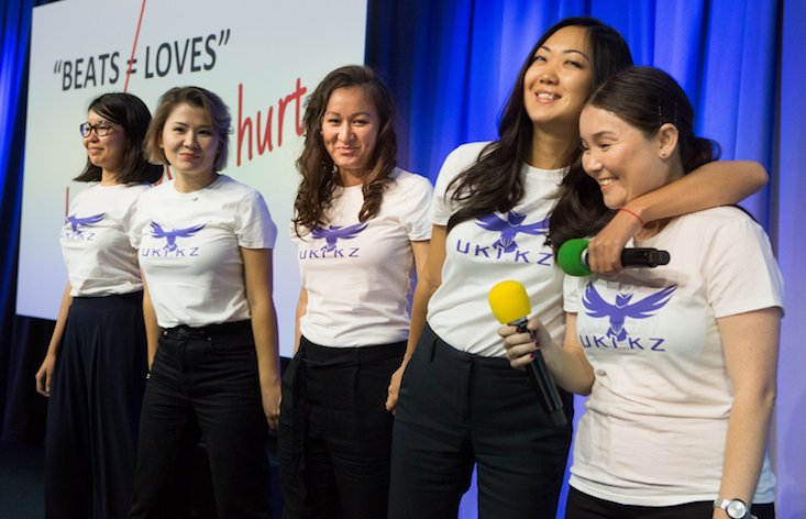 Kazakh women bag top tech grant to launch online battle against domestic violence