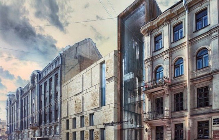 st petersburg halts controversial modern wing for historic