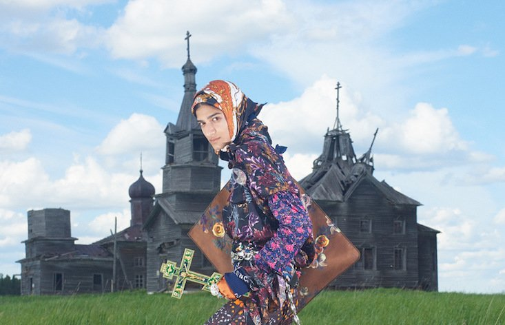 Vogue Italia transforms remote Russian village for high fashion photo shoot