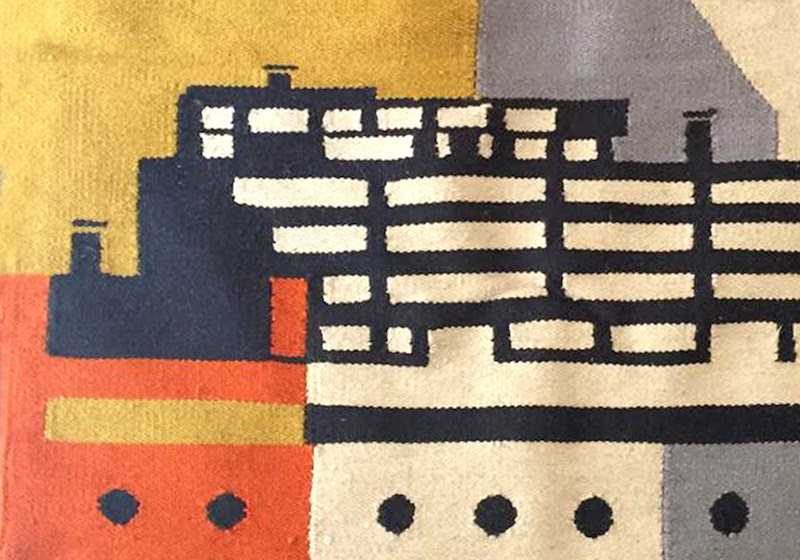 This Narkomfin-inspired rug takes 3 months to weave (and it could be yours)