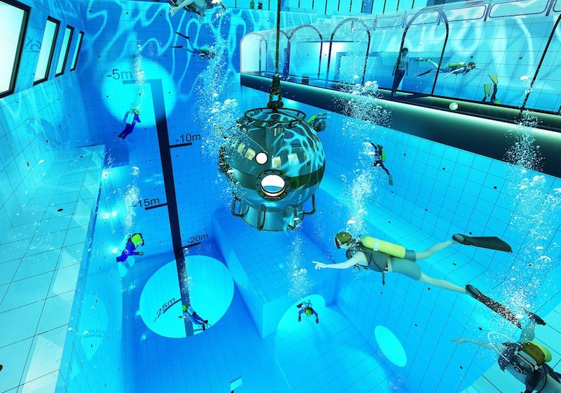 The world's deepest swimming pool is opening in Poland