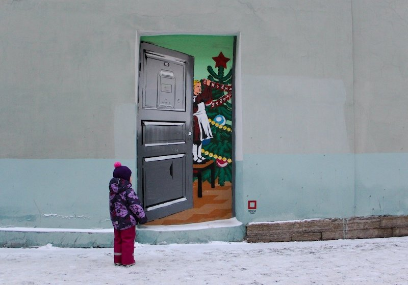 Why is this award-winning St Petersburg street art causing a stir in Kazakhstan?