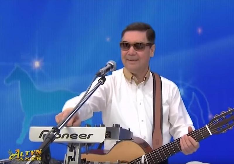 Turkmenistan's president performs self-penned musical ode to his favourite horse