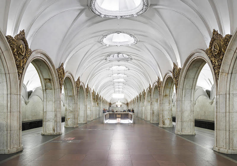 This photographer traces Moscow's architectural history through its iconic metro stations