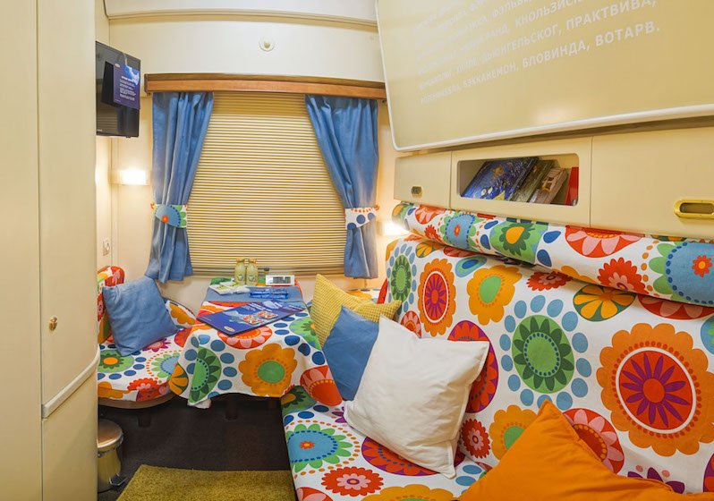 Russia's iconic sleeper trains get an IKEA makeover