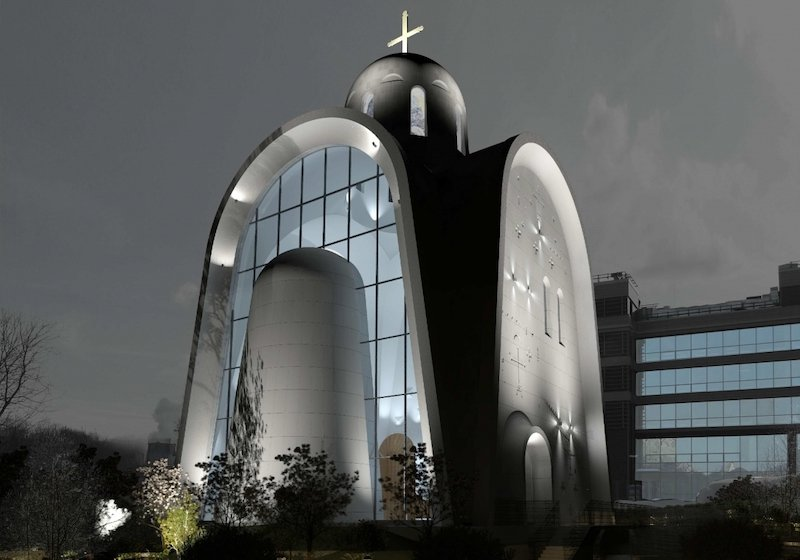 Check out the 'futuristic' new Orthodox church being built in Moscow