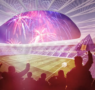 Kosovo's new national stadium will have a floating fabric façade
