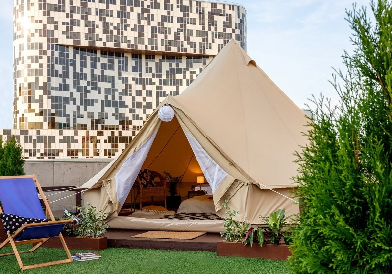 Go rooftop glamping in Moscow and see the city from new heights