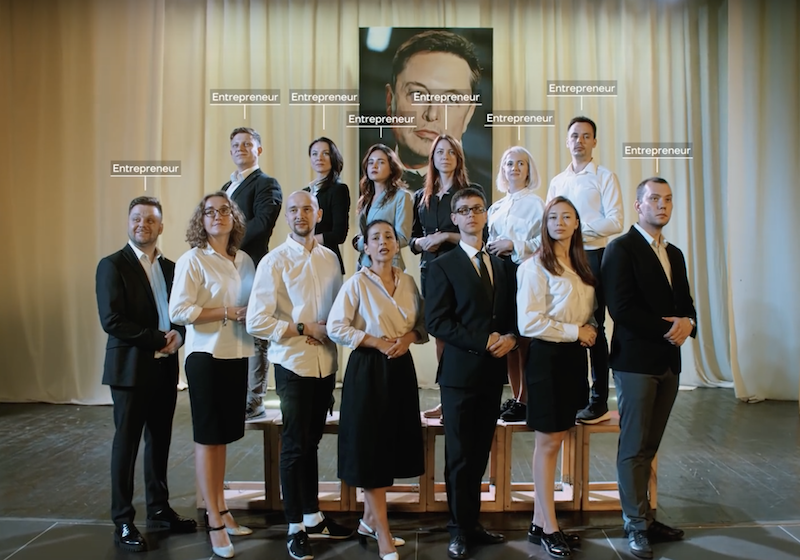 Russian entrepreneurs make their own Soviet-style musical ode to Elon Musk
