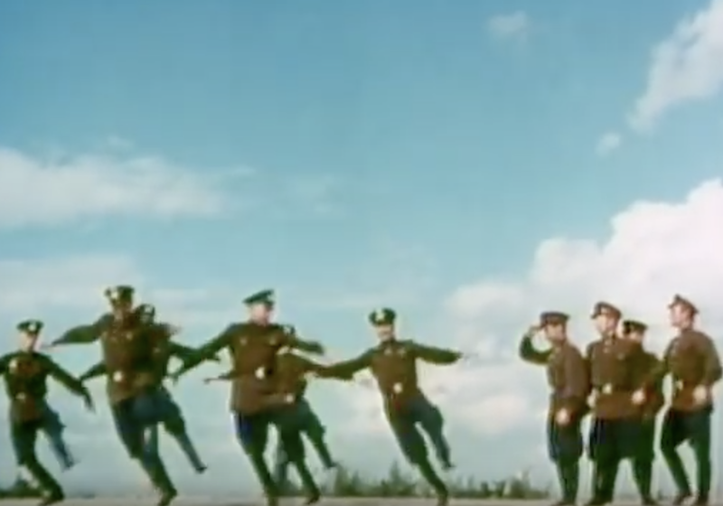Watch Soviet soldiers strut their stuff to Britney Spears and Katy Perry