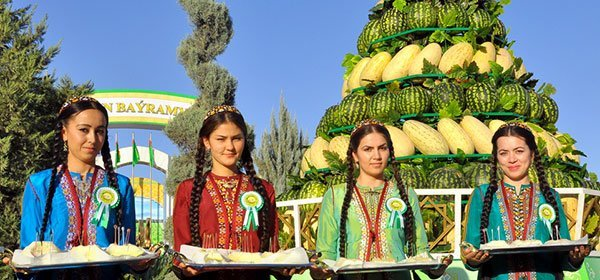 Turkmenistan parties for Melon Day