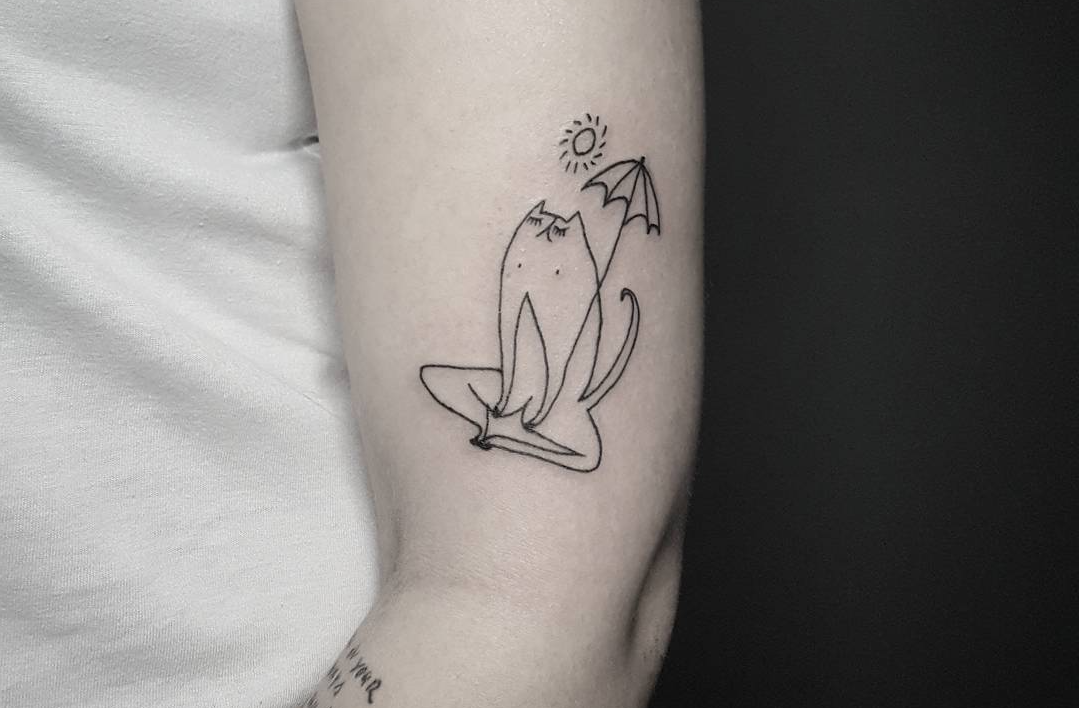 Follow of the week: cute stick and poke-style tattoos from Poland