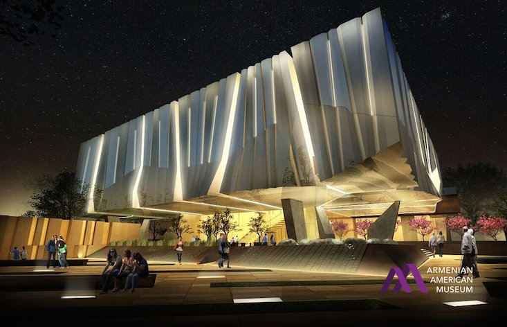 Visualisation of the museum's exterior (Image: Armenian American Museum)