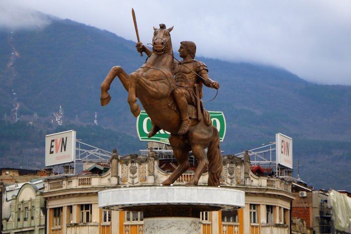 Macedonia removes 'Alexander the Great' signposts in bid to boost Greek ties