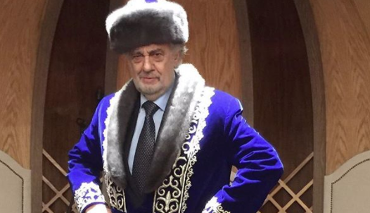 Opera star Plácido Domingo does a Nicolas Cage in Kazakhstan