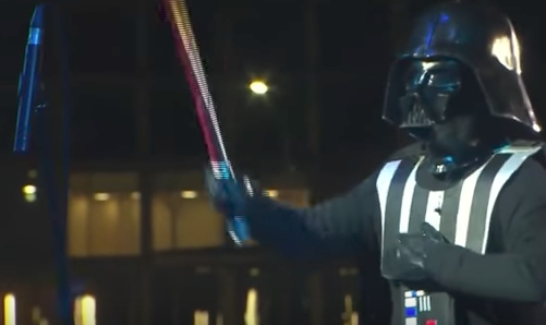 Darth Vader uses lightsaber to conduct Imperial March in Kazakhstan