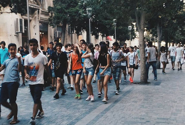 March in support of short-wearing held in Baku