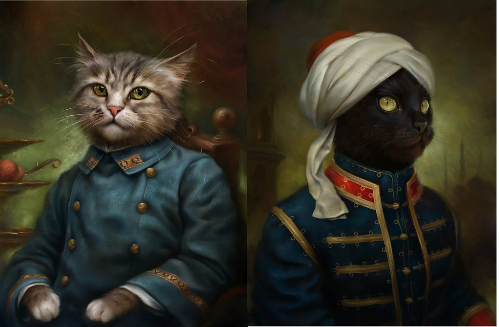 Hermitage Museum cats honoured in portraits