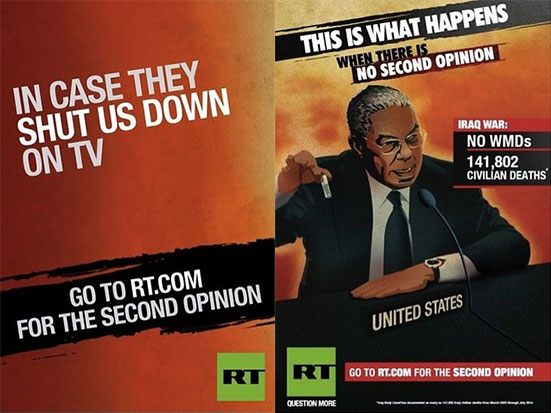 Russia Today launches controversial ad campaign