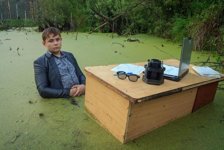 Russian brothers go viral with swamp photoshoot