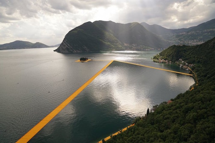 Floating installation by Bulgarian artist Christo in 2016 top ten
