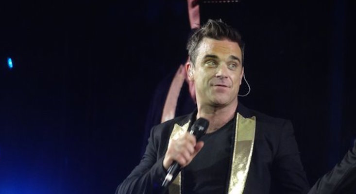 Robbie Williams sparks uproar in Uzbekistan by flashing underwear onstage