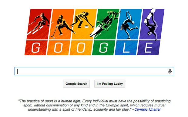 Google doodle takes aim at Russia's anti-gay law