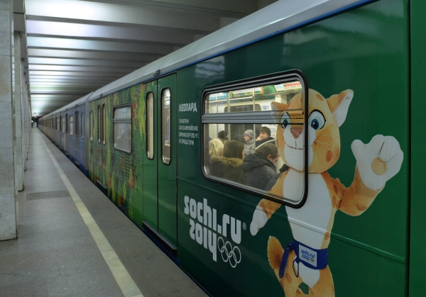 Russia gears up for Sochi with themed metro train