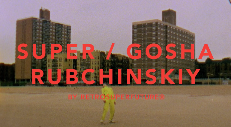 Fashion meets dance in Gosha Rubchinskiy x Super Sunglasses