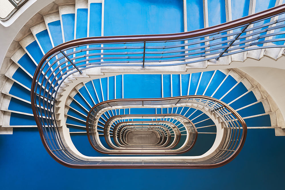 Explore Budapest's Bauhaus staircases with photographer Balint Alovits