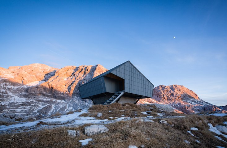 Slovenian architects transform World War One bunker into serene mountain retreat