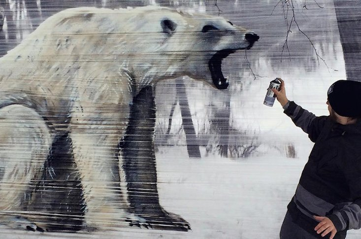Meet the Moscow artist bringing street art to Russia's forests