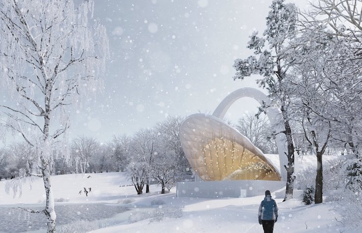 Architects reveal design to revamp classic 1970s Polish amphitheatre