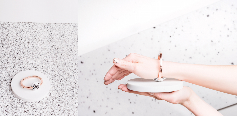 A bracelet designed to correct hand position for office workers. From the MIKO+ range by Martyna Świerczyńska and Ewa Dulcet