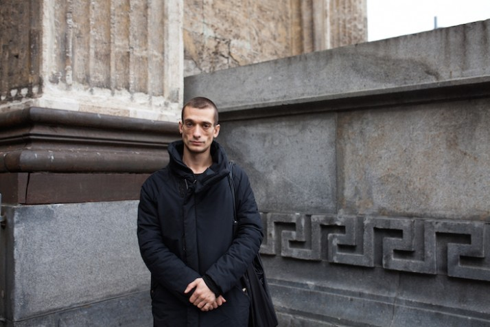 """Society has plunged into silence,"" says Russian art activist Pyotr Pavlensky"