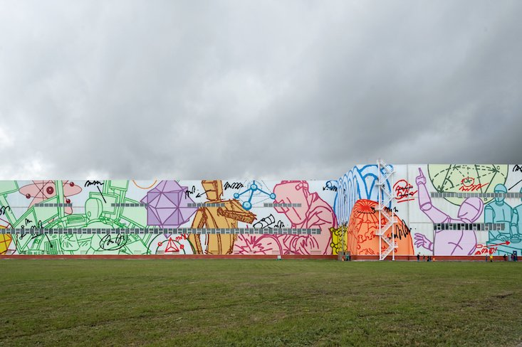 Russian artist completes world's biggest solo mural