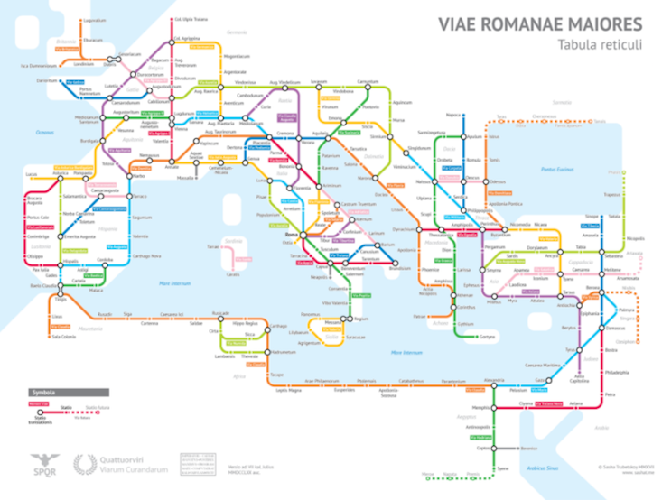 Maps by Sasha Trubetskoy: where the Roman Empire meets the underground
